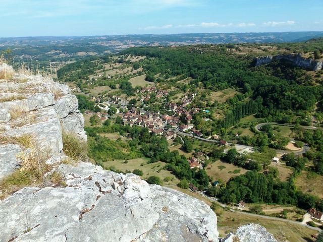 Panorama vue imprenable sur le village d'Autoire