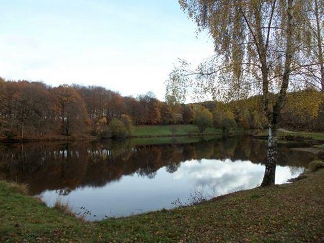 plan d'eau étang prés du lac de Tolerme