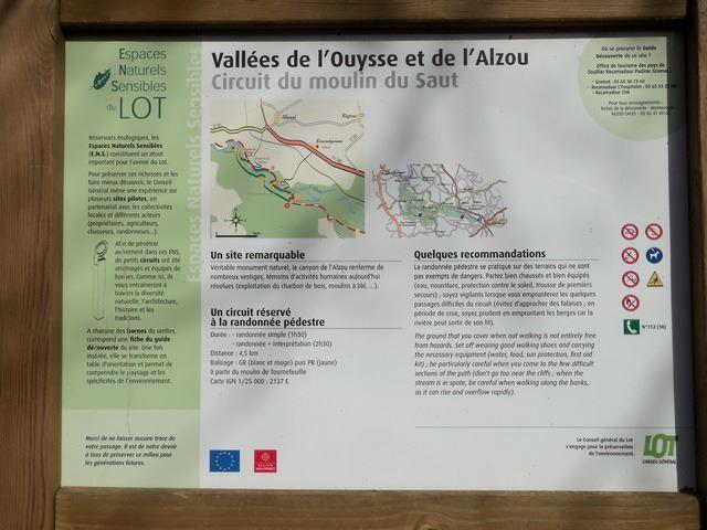 Parcours Moulins Vallée de l'Alzou