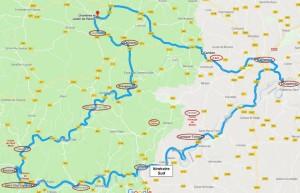 Itinéraire Sud Lot St Cirq Lapopie
